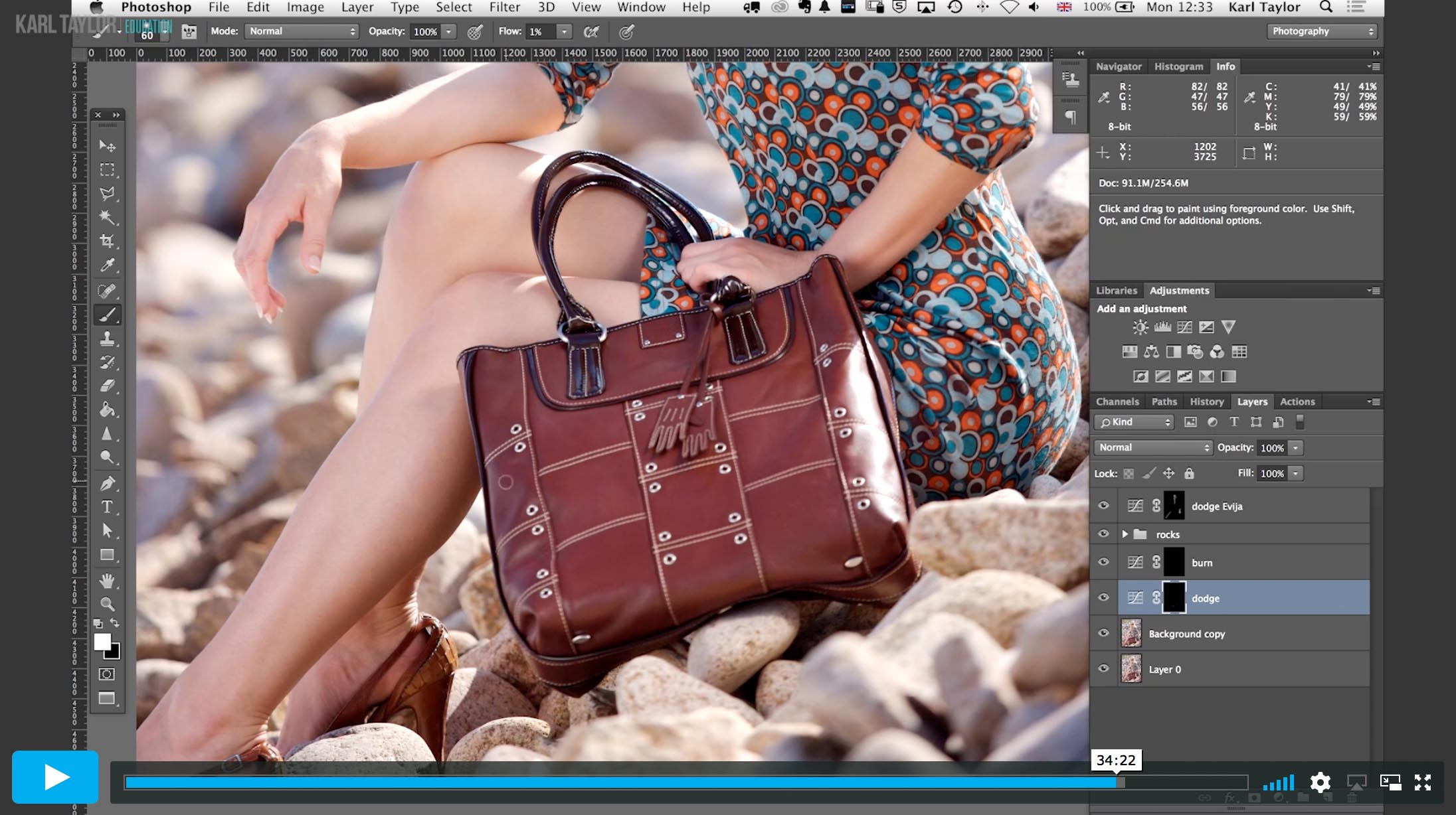 10. Practical demonstration on fashion retouch