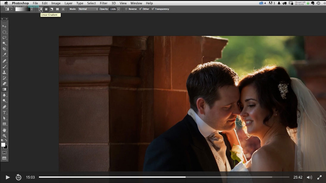 11. Wedding couple retouch Part 1
