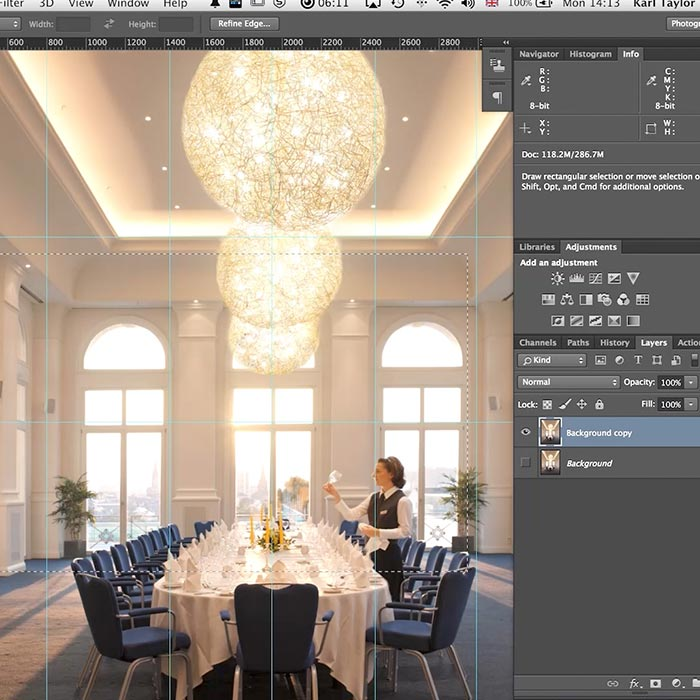 11. Practical demonstration on interior retouch
