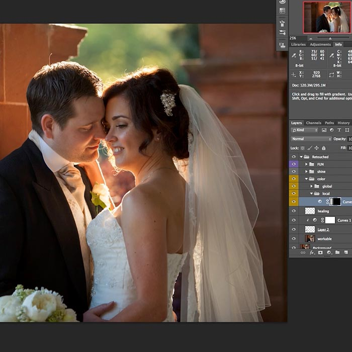 12. Wedding couple retouch Part 2