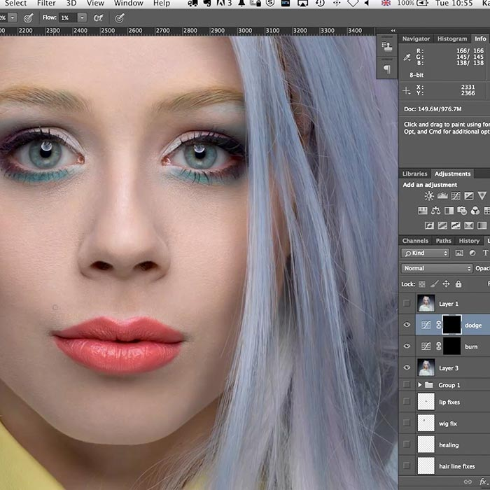Practical demo beauty retouch