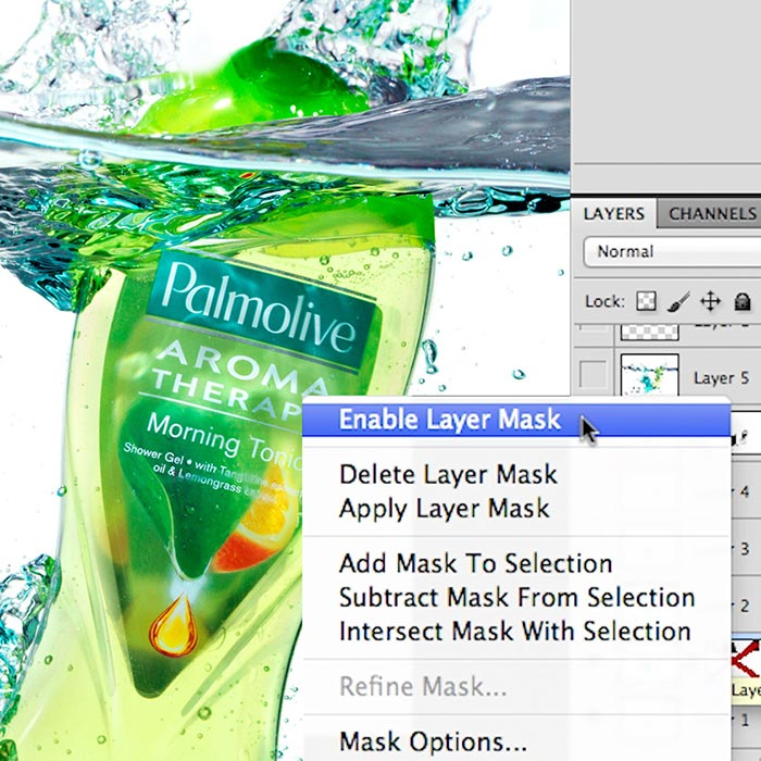 Perfect product tank retouch