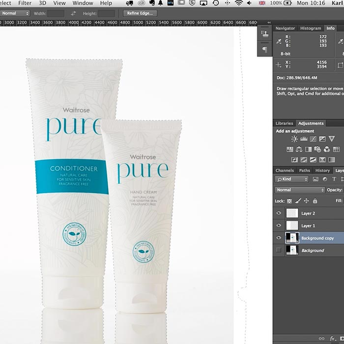 Practical demo product retouching