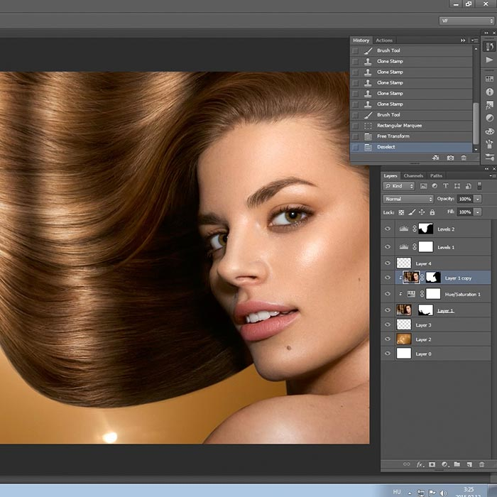 Hair advert retouch