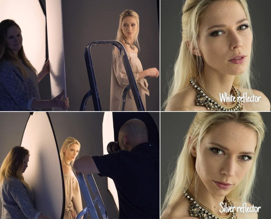 Portrait photography with reflectors
