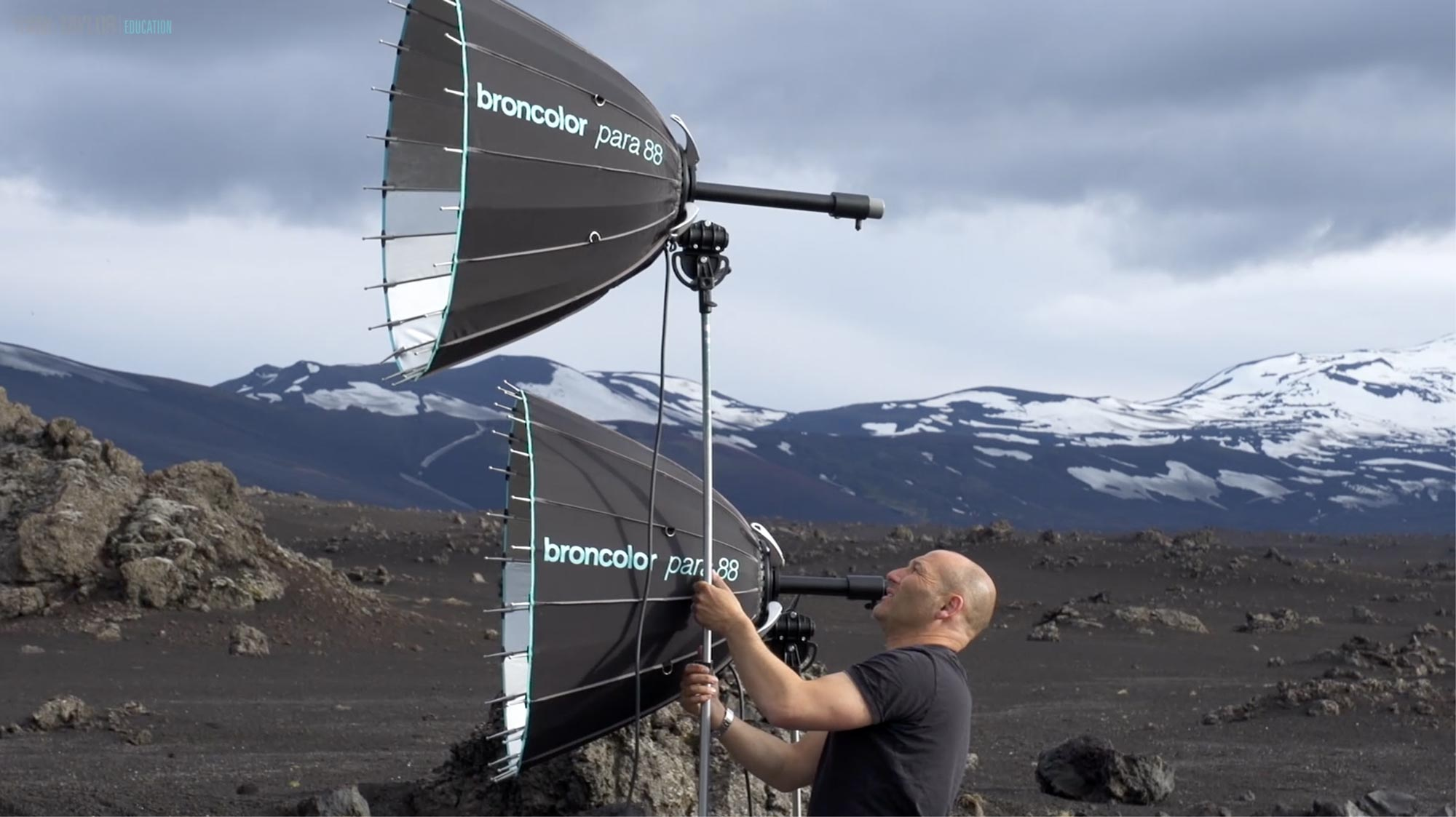 Two Parabolic Lights in Iceland (broncolor para 88s)