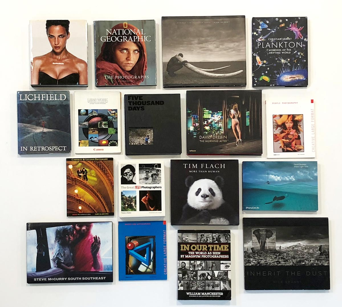A selection of my favourite photography books.