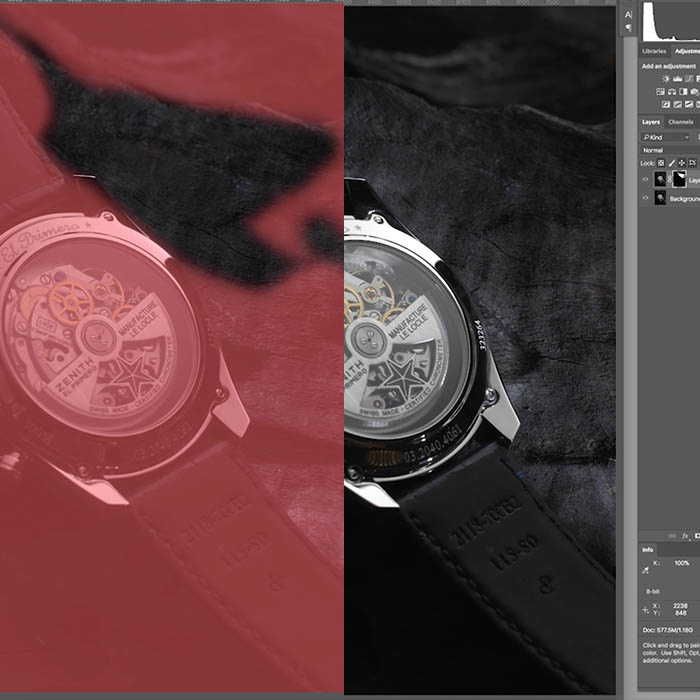 Zenith Watch Retouch 1 – Focus Stacking and Compositing