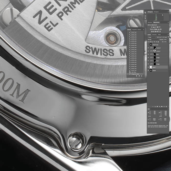 Zenith Watch Retouch 2 – Clean Up and Final Touches