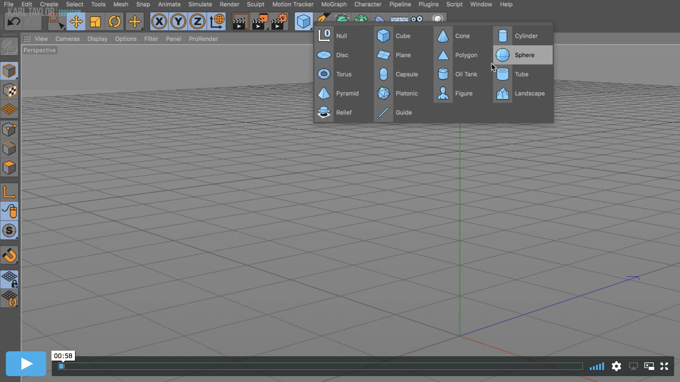 03. Cinema 4D Interface – Part 2