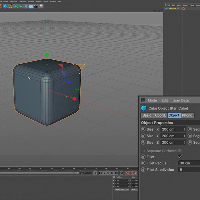 3) Cinema 4D Interface – Part 2