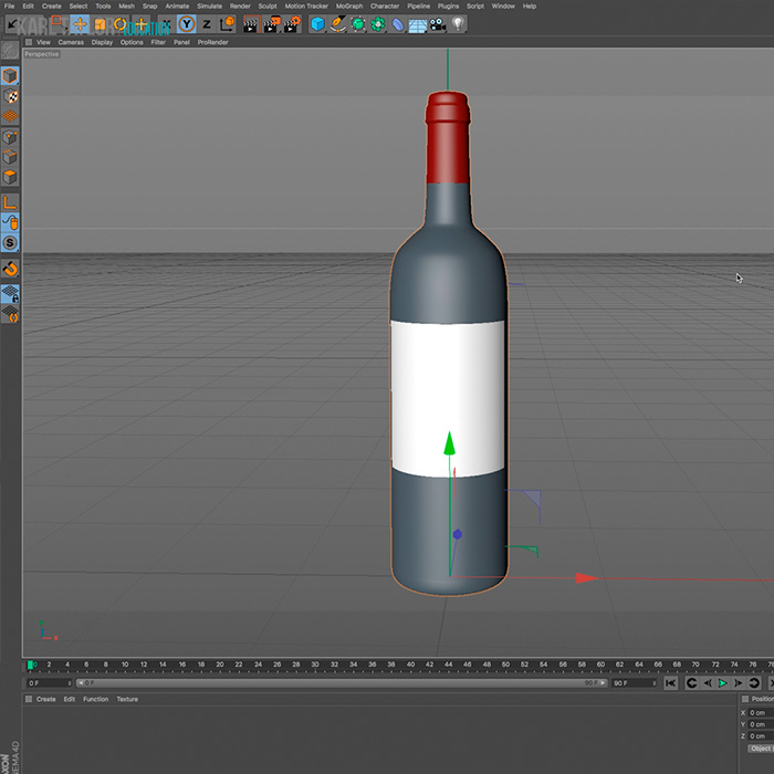 4) Creating a 3D Model – Wine Bottle