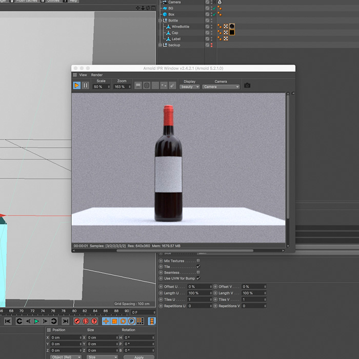 5) Adding Texture to 3D Models – Wine Bottle
