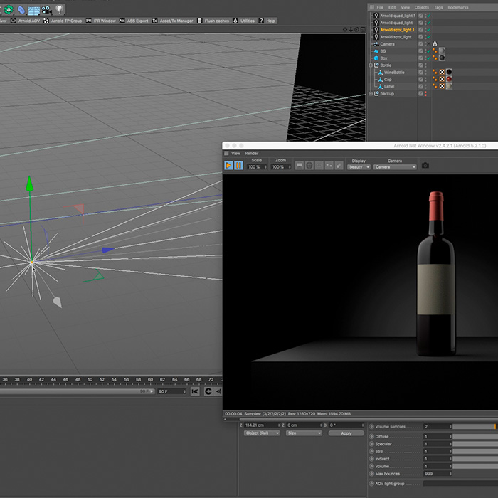 6) Lighting and Rendering in Cinema 4D