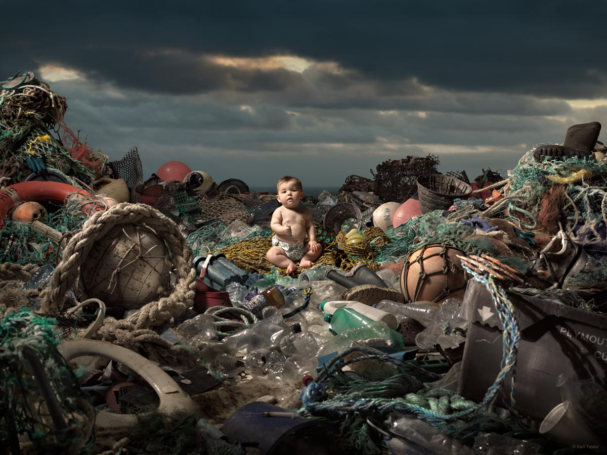 Ocean pollution awareness campaign image by Karl Taylor