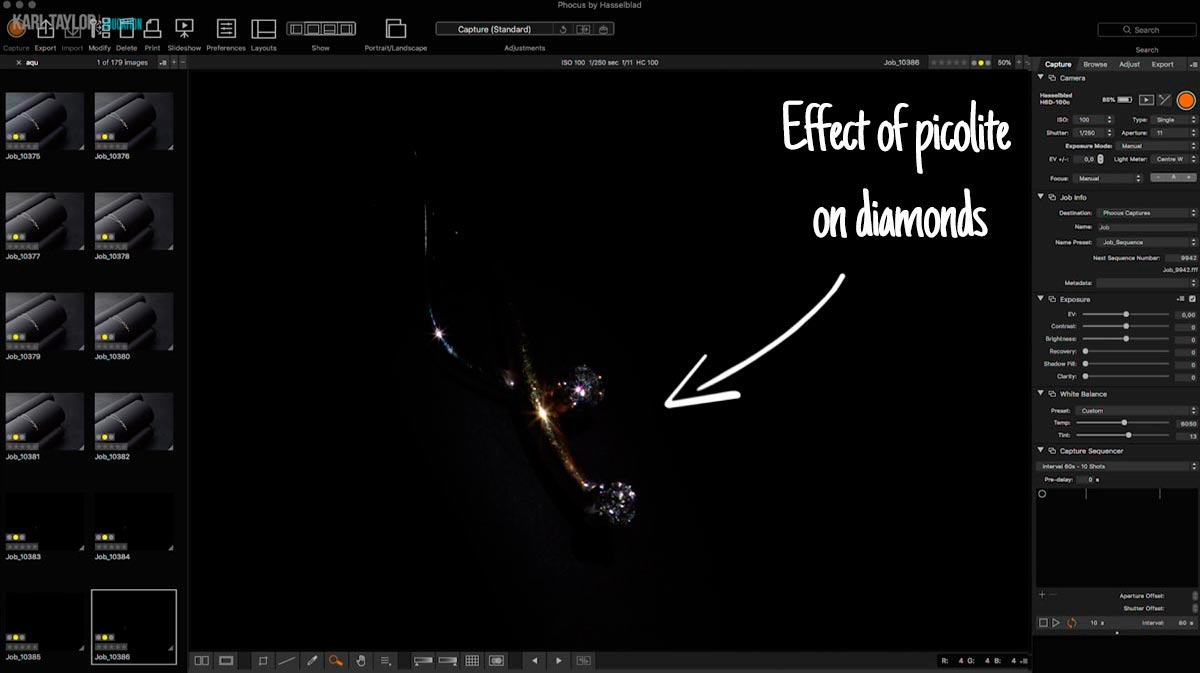 The effect of picolite on jewellery photo