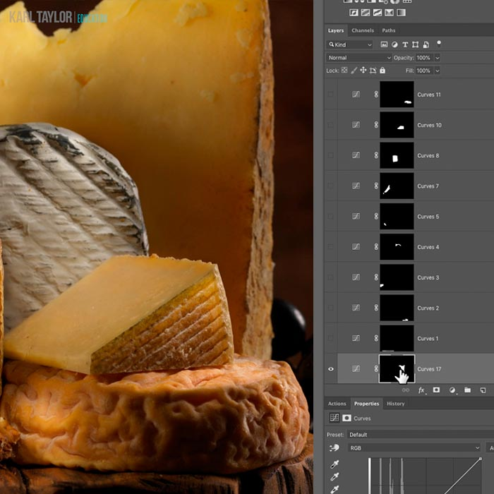 Cheese Still Life Post Production
