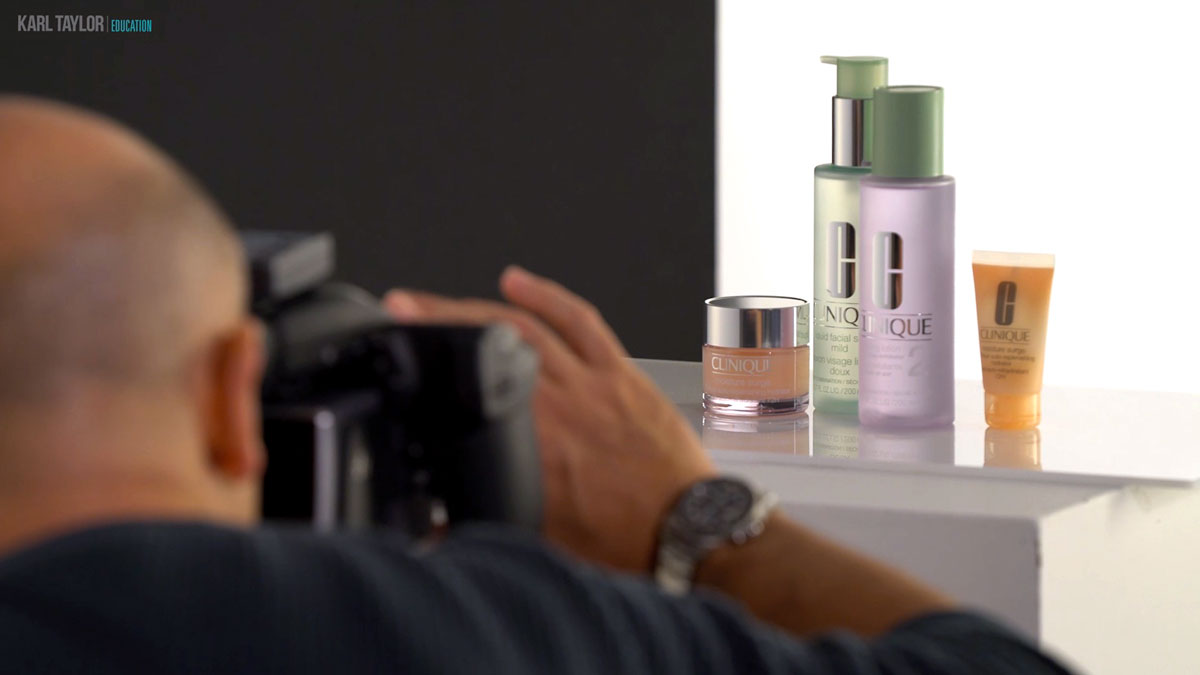 Clinique product shoot lighting