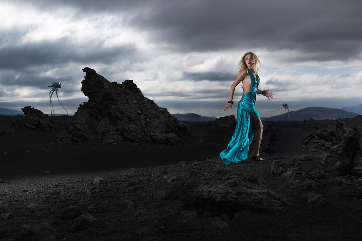 Landscape fashion photo in Iceland -by Karl Taylor