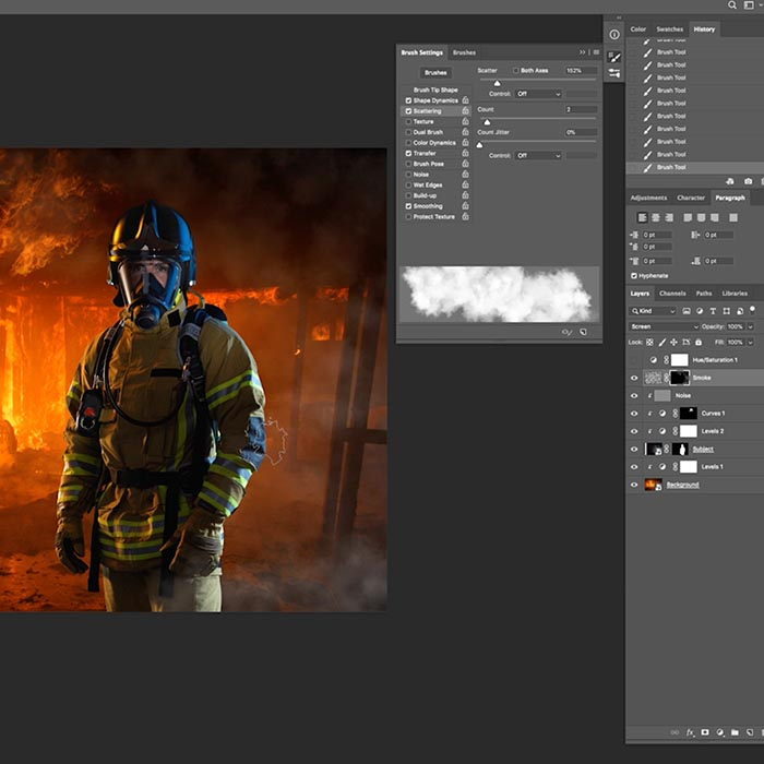 6. Creating smoke effect using Photoshop Brush tool