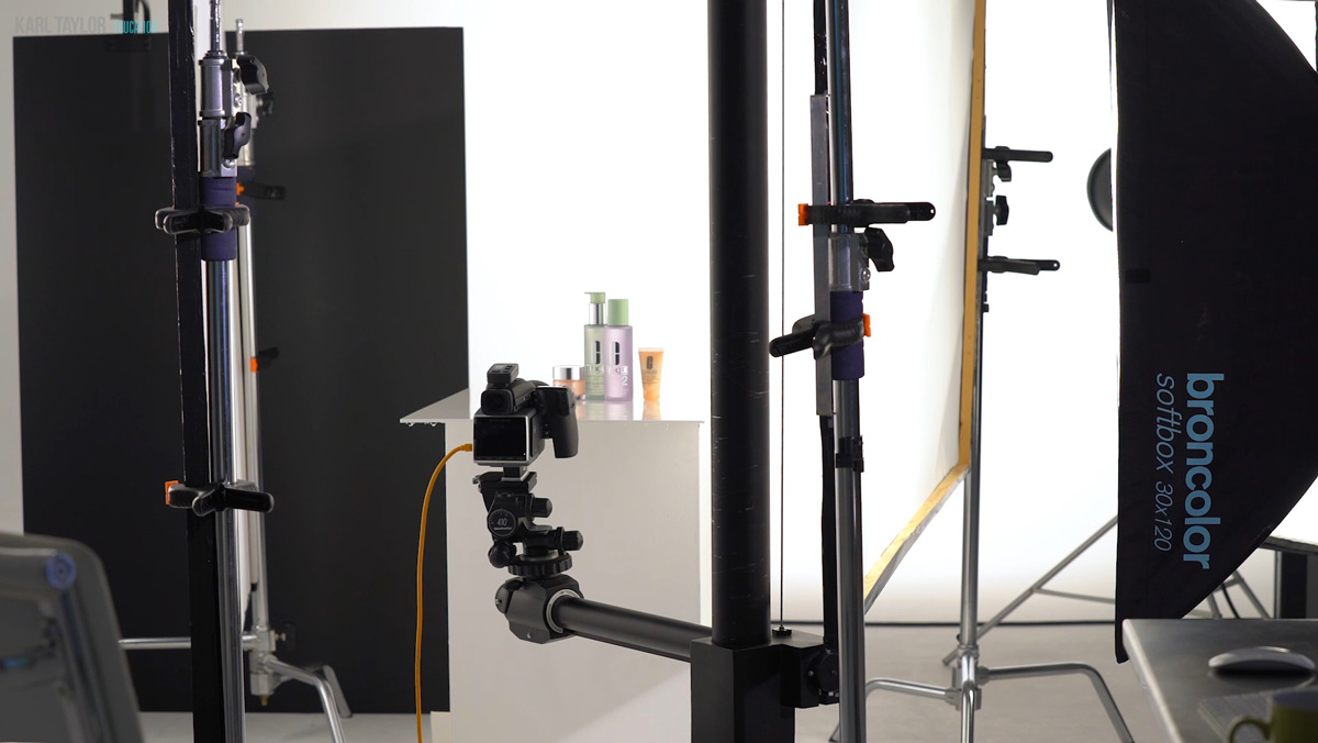 Product photography lighting setup