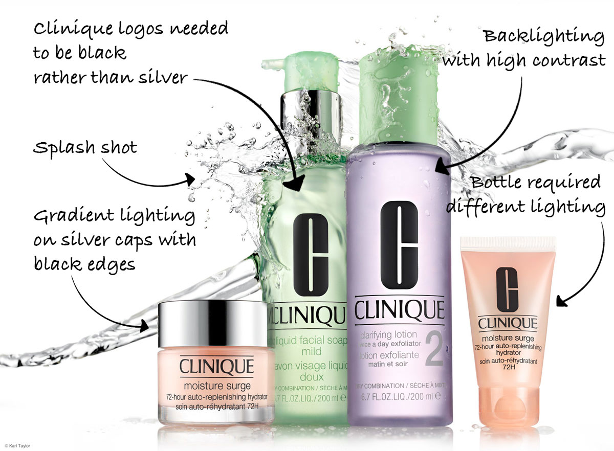 Clinique product shoot challenges
