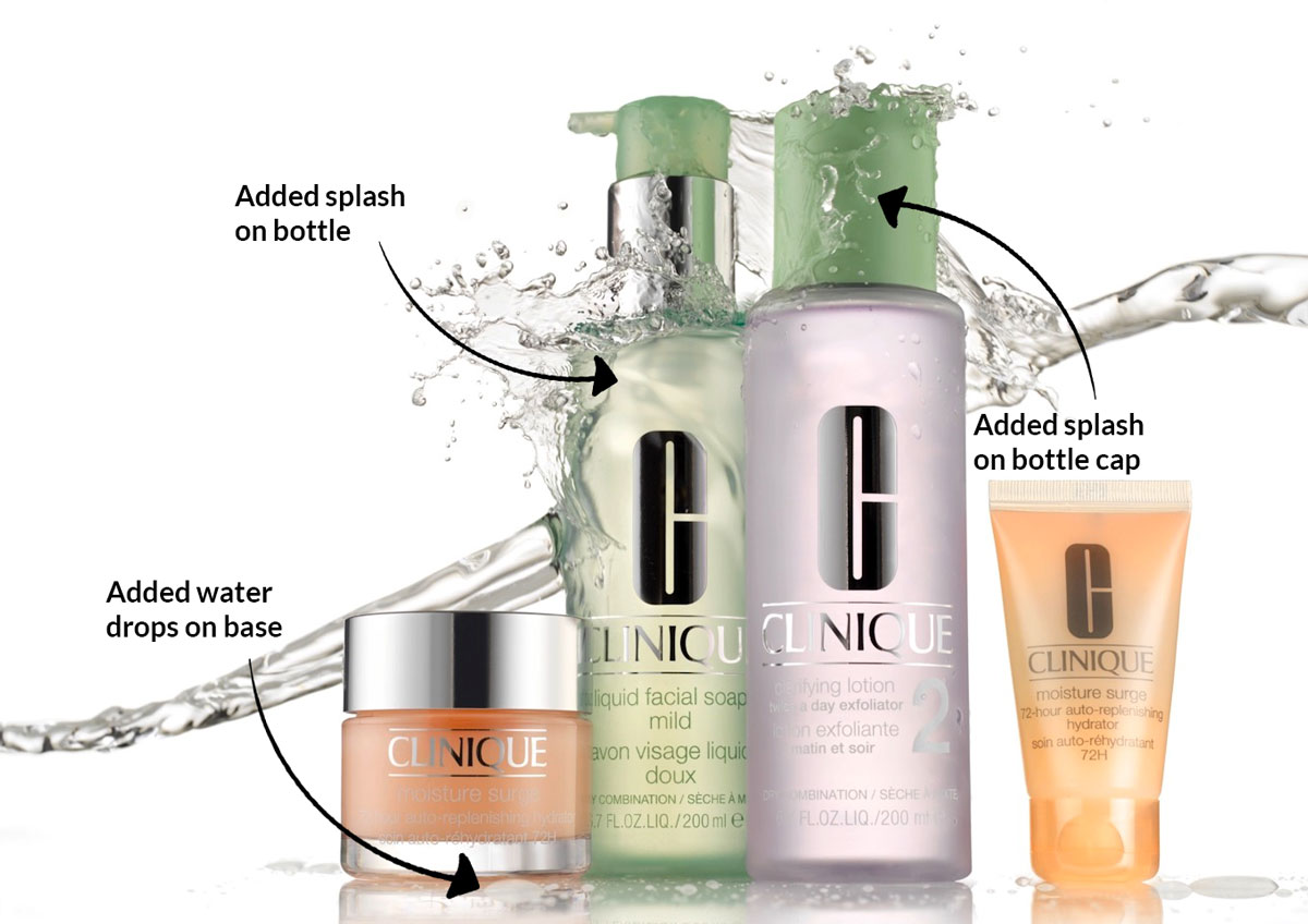 Clinique product splash shot