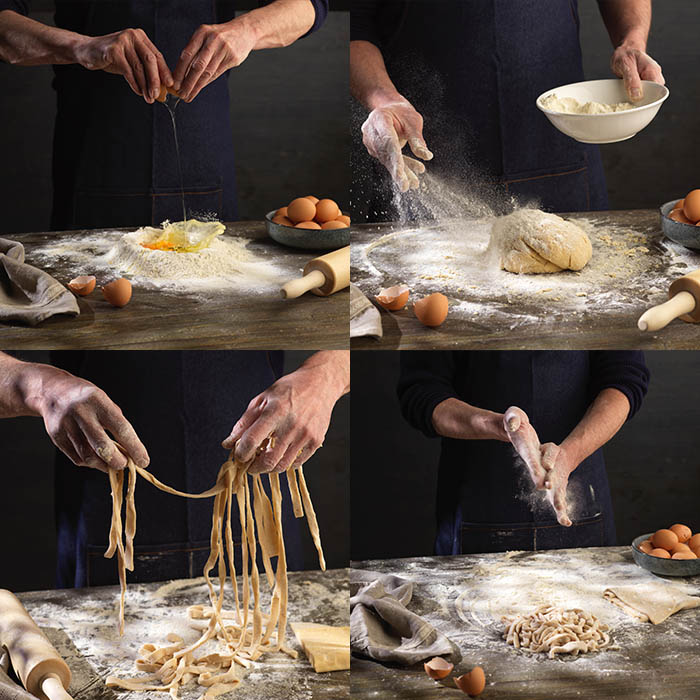 Editorial Food Photography: Making Pasta