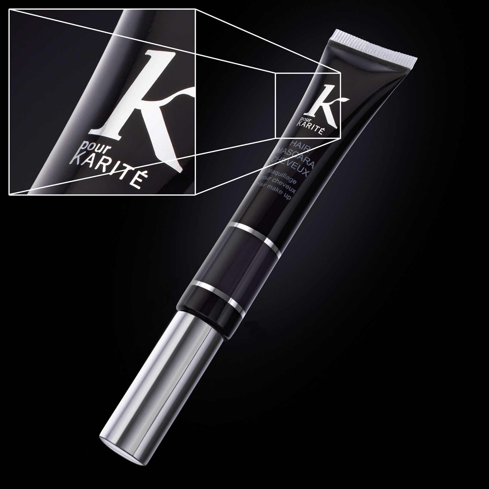 Example of cosmetic product with rim lighting